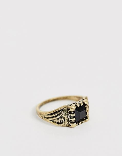 Reclaimed Vintage inspired pinky ring with emboss detail and stone exclsuive to ASOS