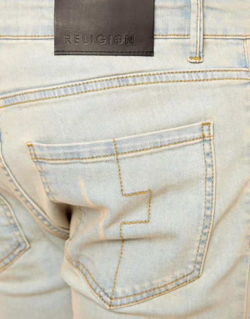 Image 1 of Religion Noize Skinny Jeans in Light Blue Wash