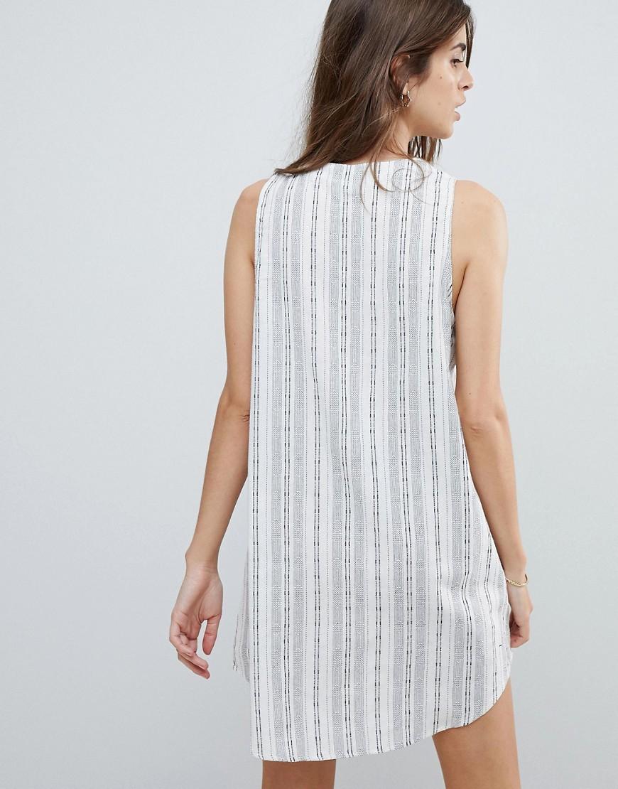 Beach Panama Stripe Dress - White Rhythm