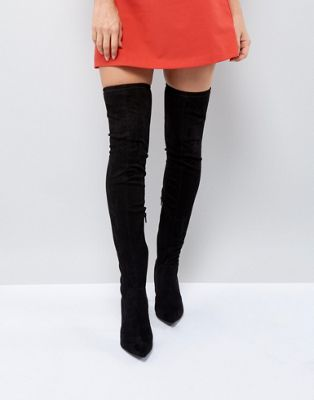 Image 1 of River Island Over The Knee Heeled Boots