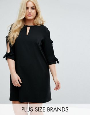 Image 1 of River Island Plus Tie Sleeve Shift Dress