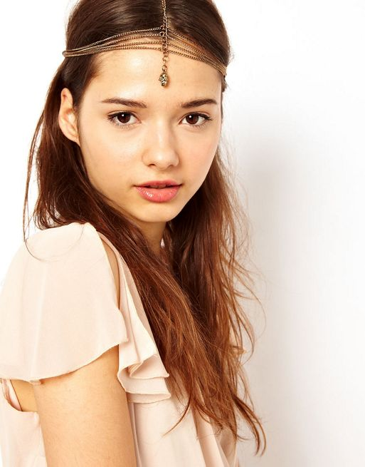Image 1 of River Island Simple Skull Crown Head Band