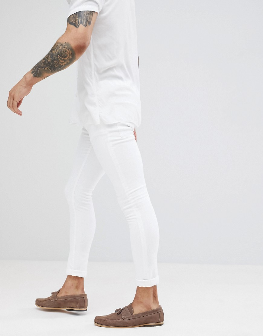 River Island Super Skinny Jeans In White by River Island