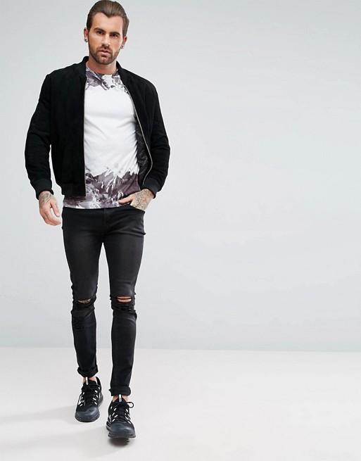 River Island - T-shirt à délavage monochrome - Blanc