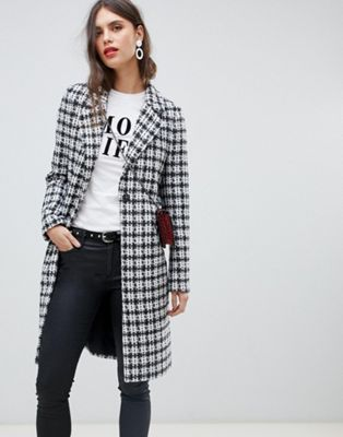 Tailored coat in check