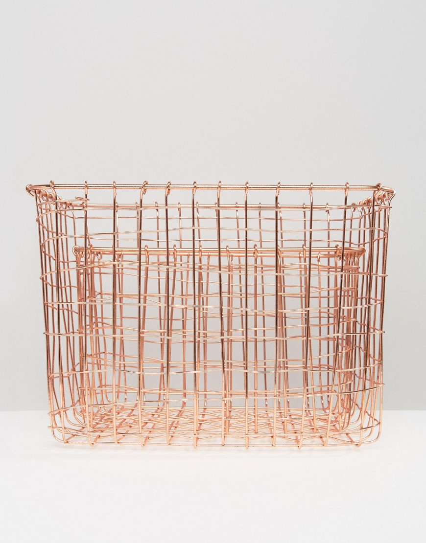 Sass & Belle Pack Of 2 Wire Storage Baskets by Sass & Belle