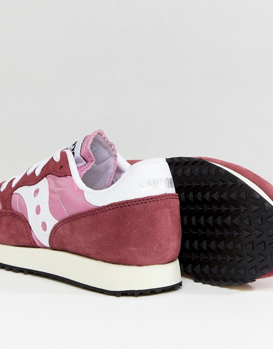 Saucony Dxn Vintage Trainers In Red And Pink by Saucony