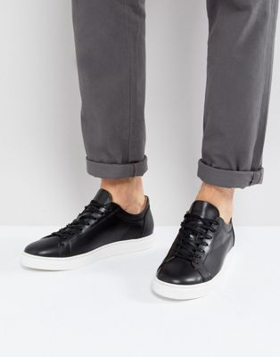 Image 1 of Selected Homme David Leather Sneakers In Black