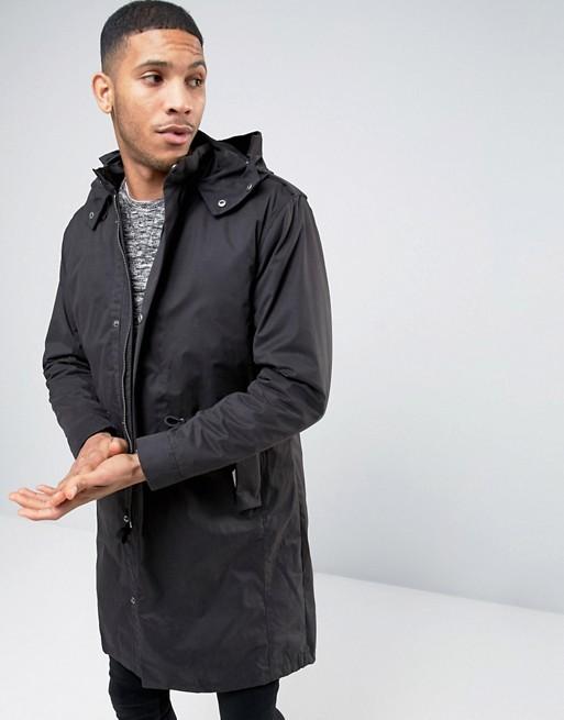 selected homme selected homme premium parka with removable bomber jacket. Black Bedroom Furniture Sets. Home Design Ideas