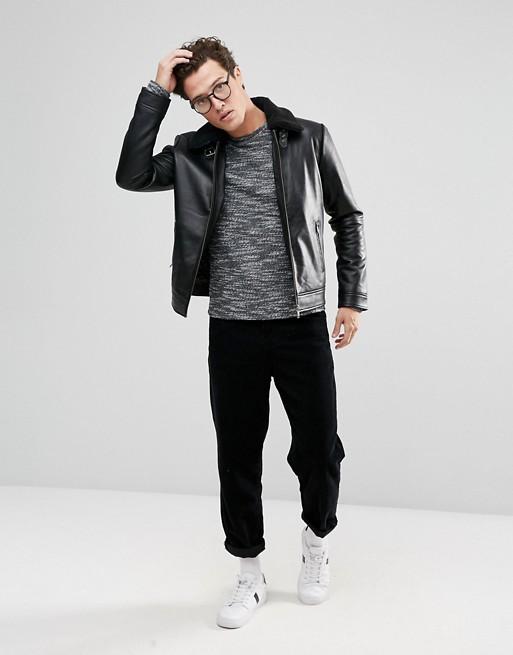 Selected Homme+ - Sweat-shirt en mélange de fil