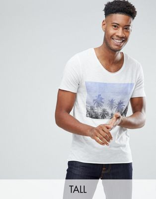 Image 1 of Selected Homme Tee With Palm Print