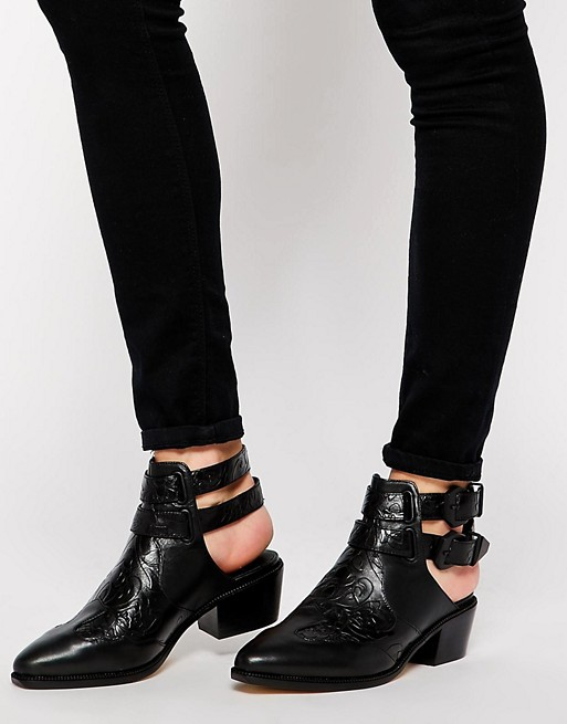 Ankle Strap Flat Shoes Real Leather Calvin Klein
