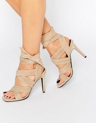 Image 1 of Senso Samantha Sand Suede Bow Heeled Sandals