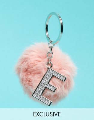 Image 1 of Skinnydip Exclusive Alphabet Pom Keychain - Letter E