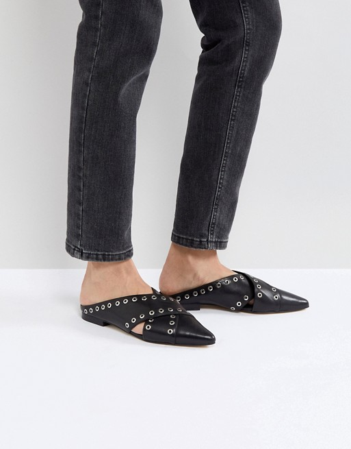 Sol Sana Cross Eyelet Flat Shoes