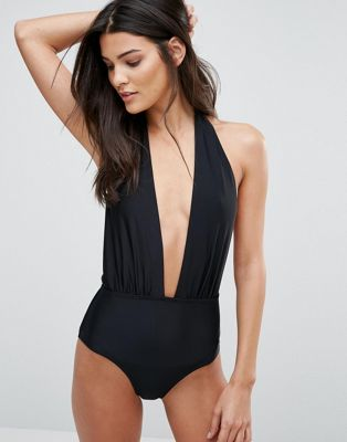 Image 1 of South Beach Deep Plunge Swimsuit