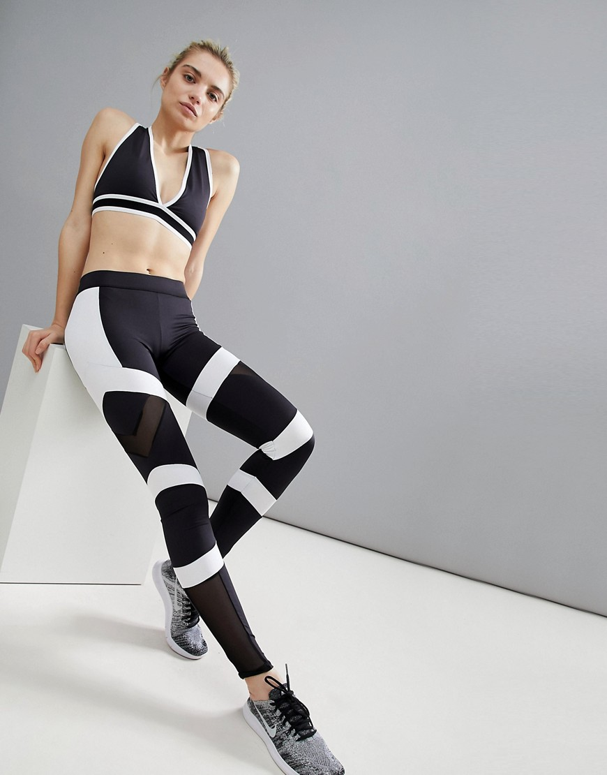 South Beach Monochrome Panelled Leggings