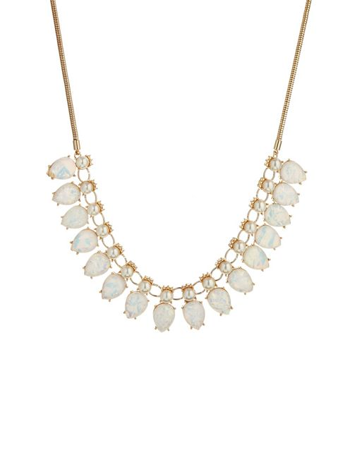 Image 1 of Talullah Tu White Shimmer Pearl Statement Necklace