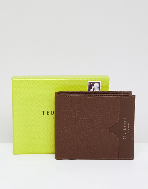 Ted Baker Looeze Leather Pebble Wallet Ted Grain in Baker Bifold ggqFHr
