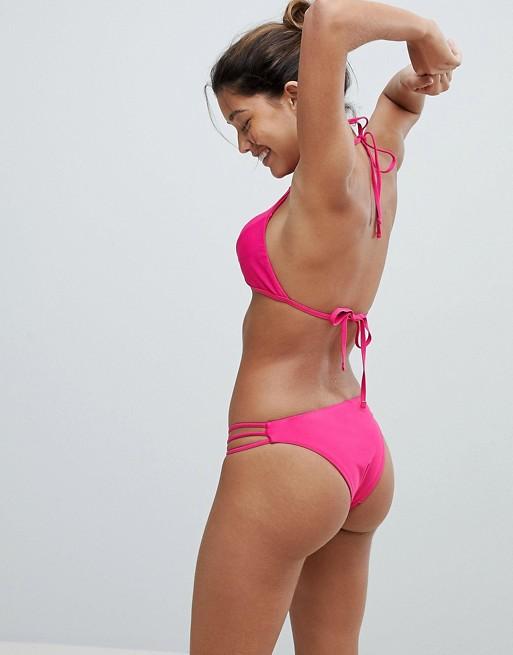 Top de bikini con aberturas de Y.A.S