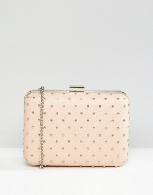 Image 1 of True Decadence Box Clutch Bag With Studding