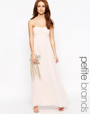 Image 1 of True Decadence Petite Bandeau Maxi Dress