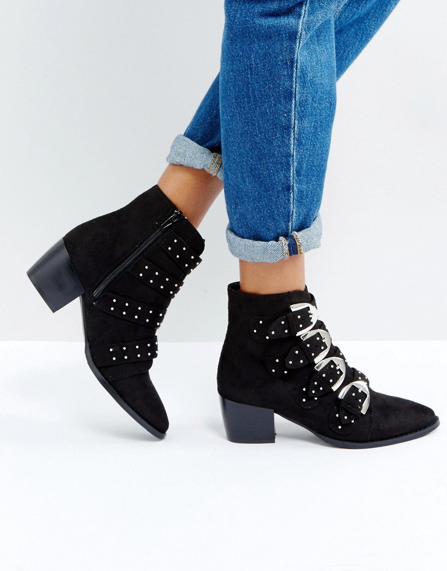Truffle Collection Stud Buckle Boot