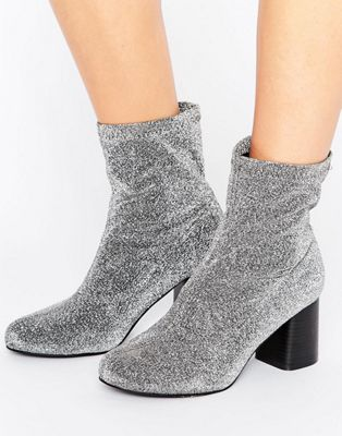 Image 1 of Truffle Stretch Glitter Ankle Boot