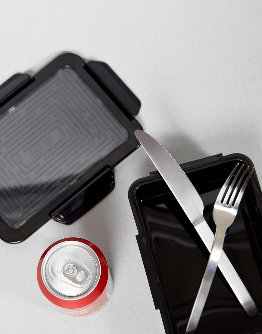 Typo Eat Up Black Bento Lunch Box by Typo