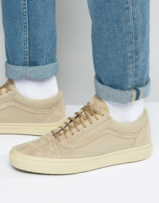 vans old skool mte trainers in beige