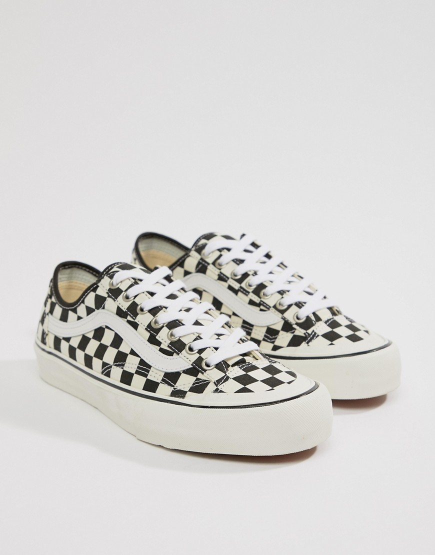 Style 36 Decon SF Checkerboard Trainers In Black VA3MVL01U - Black Vans