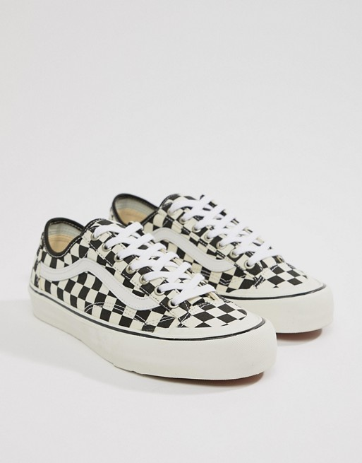 Style 36 Decon SF Checkerboard Trainers In Black VA3MVL01U - Black Vans lYqdMjkB
