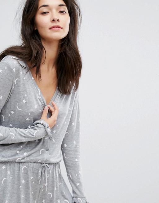 Vero Moda - Combishort pyjama motif étoiles et lune