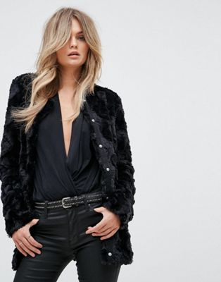 Image 1 of Vero Moda Faux Fur Jacket