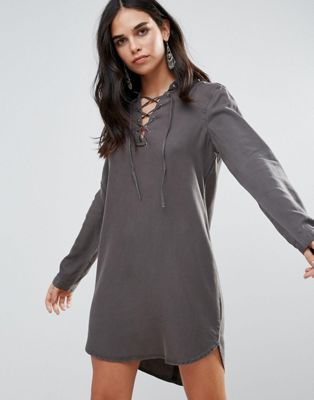 Image 1 of Vero Moda Lace Up Shift Dress