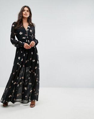 Image 1 sur Vero Moda - Maxi robe à imprimé floral