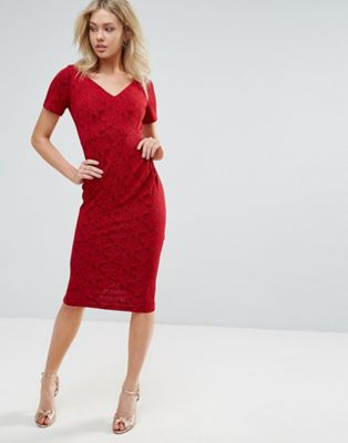 Image 1 of Vesper Short Sleeve Midi Dress
