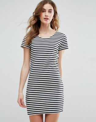 Image 1 of Vila Striped T-Shirt Dress