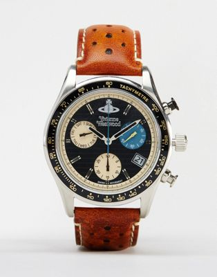 Image 1 of Vivienne Westwood Sotheby Leather Watch VV142BKTN