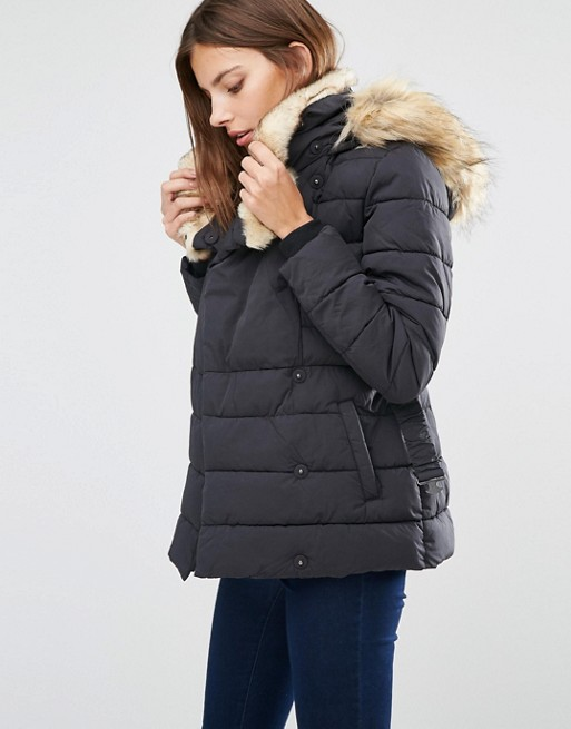 Warehouse | Warehouse Short Luxe Padded Parka