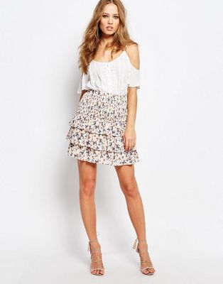 Image 1 of Y.A.S Flower Layered Skirt