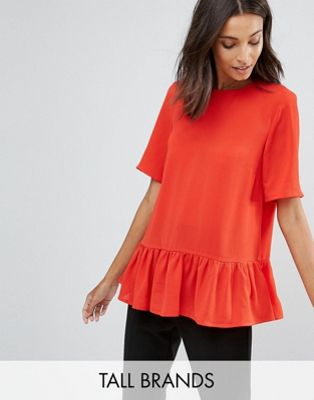 Image 1 of Y.A.S Tall Citrulla Peplum Top