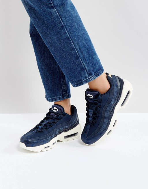 Zapatillas de deporte en azul marino Air Max 95 de Nike