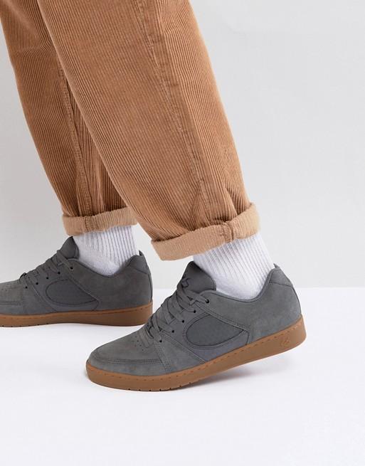 Zapatillas de deporte estrechas en gris Accel de eS Skateboarding etVfKBCvpd