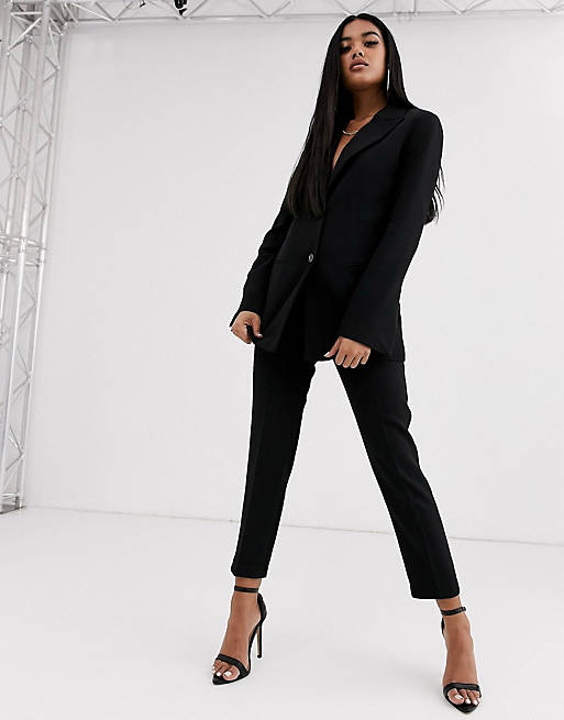 ASOS DESIGN black pop suit