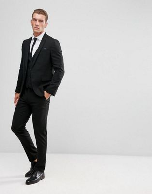 ASOS Design - Skinny-fit kostuum in zwart