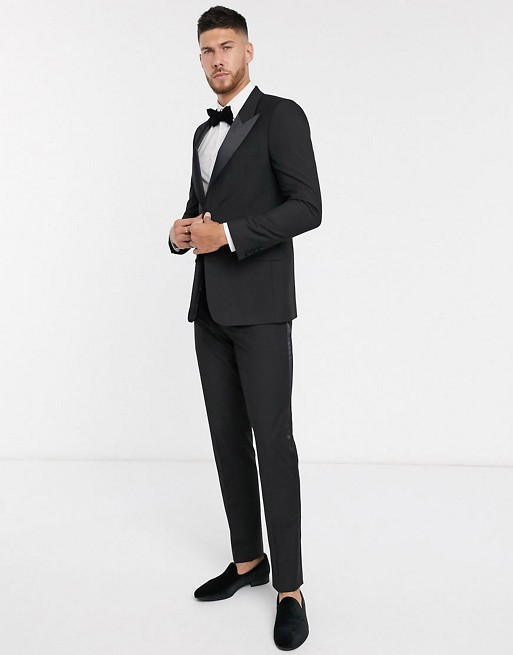ASOS DESIGN - Smoking slim - Noir