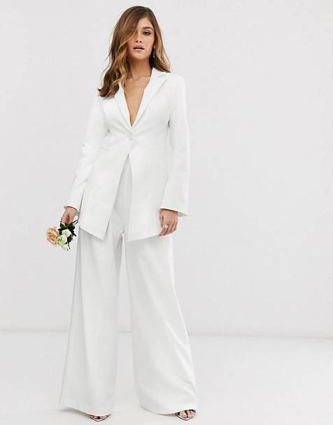 ASOS EDITION fitted blazer & wide leg pants