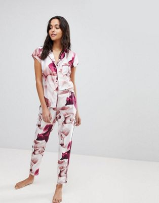 B By Ted Baker Porcelain Rose Revere Pajama Set