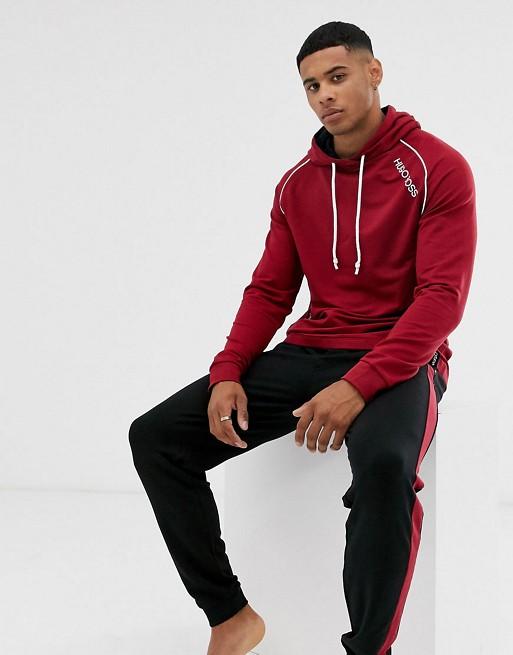 BOSS - Bodywear - Ensemble confort avec bande à logo - Bordeaux